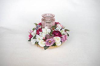 Dekorácie - Dekorácia so svietnikom - 9596994_