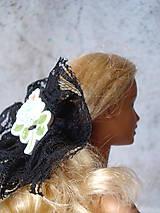 Hračky - Barbie - gumička-čelenka čierna (Modrá) - 9595237_