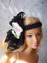 Hračky - Barbie - gumička-čelenka čierna (Modrá) - 9595240_