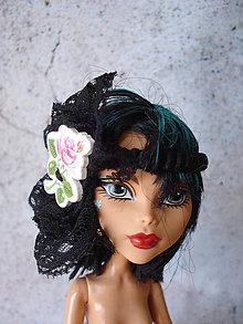 Hračky - Barbie - gumička-čelenka čierna (Ružová) - 9595292_