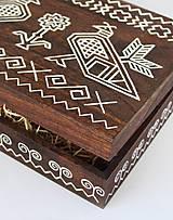 Krabičky - Ručne maľovaná šperkovnica Čičmany - 9595750_