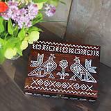 Krabičky - Ručne maľovaná šperkovnica Čičmany - 9595751_