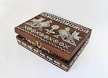 Krabičky - Ručne maľovaná šperkovnica Čičmany - 9595752_