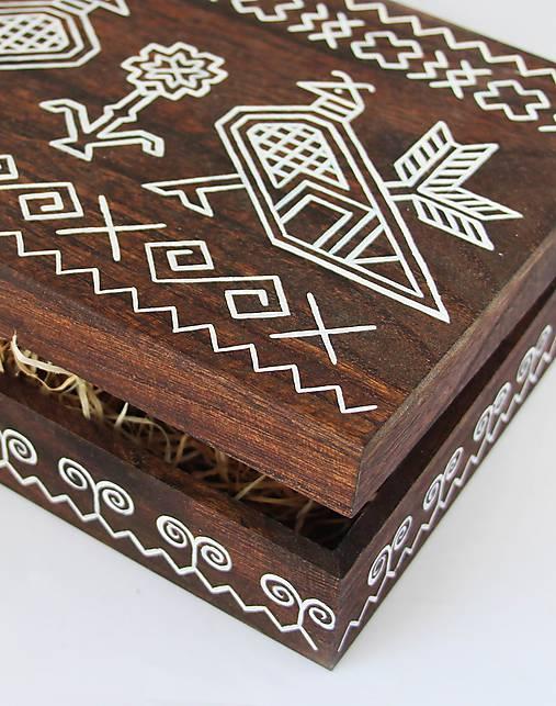 Ručne maľovaná šperkovnica Čičmany
