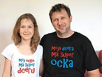 Detské oblečenie - tričko pre ocka a dcéru, mamu a syna,... - 9596191_