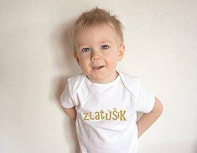Detské oblečenie - detské body pre zlatúšika - 9596067_