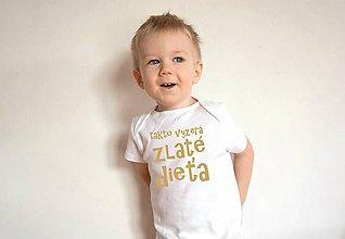 Detské oblečenie - detské body pre zlaté dieťa - 9596083_