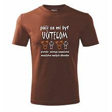 Oblečenie - Páči sa mi byť učteľom - pánske tričko - 9596301_