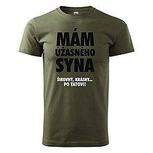 Oblečenie - Mám úžasného syna, šikovný a krásny - pánske tričko pre otca - 9596308_