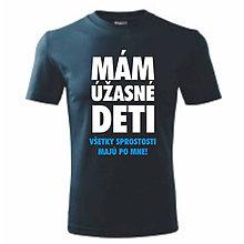 Oblečenie - Mám úžasné deti - pánske tričko pre otca - 9596319_