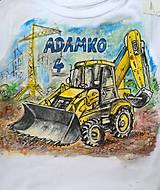 Detské oblečenie - Adamkov bager ... :-) - 9595169_