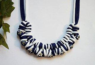 Náhrdelníky - Uzlový náhrdelník vo folk štýle - 9595516_