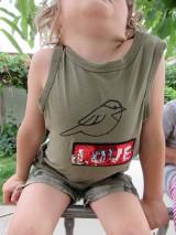 Detské oblečenie - Flitrové tričko - vtáčik - 9595414_