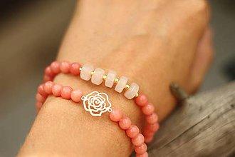 Náramky - DUO náramky ruženín a jadeit - 9595487_
