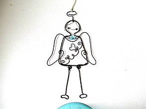 Iné - tyrkysový anjelik - 9594891_