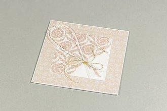 Papiernictvo - Kytica ruží I - vyšívaný pozdrav - 9596894_