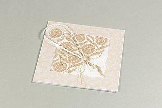 Papiernictvo - Kytica ruží II - vyšívaná pohľadnica - 9596895_