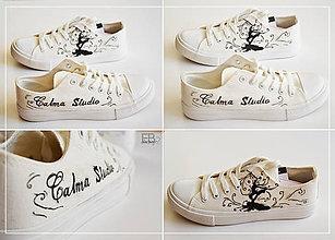 Obuv - Maľované topánky - 9599705_