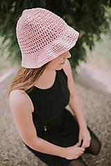 - Letný klobúk-100% bavlna-pink - 9598202_