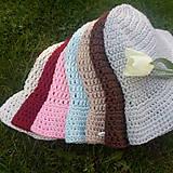 Čiapky - Letný klobúk-100% bavlna-pink - 9598206_