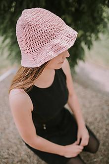 Čiapky - Letný klobúk-100% bavlna-pink (Bordová) - 9598202_