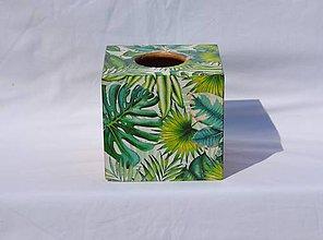"""Krabičky - Box na vreckovky """"Tropical leaves Nr.2"""" - 9598677_"""