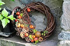 Dekorácie - Venček s čerešňami - 9598690_