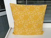 Úžitkový textil - vankúšik žlto - horčicový - 9597807_