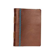 Papiernictvo - Luxusný kožený zápisník * sketchbook A5 ,,Lenora