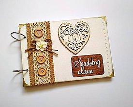 Papiernictvo - Vintage svadobný album * kniha hostí A5 - 9598465_