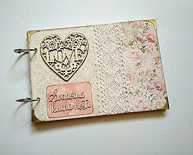 Papiernictvo - Vintage svadobný album * kniha hostí A5 - 9598533_
