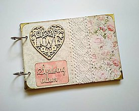 Papiernictvo - Vintage svadobný album * kniha hostí A5 - 9598535_