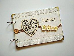 Papiernictvo - Vintage svadobný album * kniha hostí A5 - 9598582_