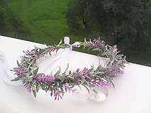 """Ozdoby do vlasov - Kvetinový venček do vlasov """"... voniaš levanduľou ..."""" - 9598171_"""