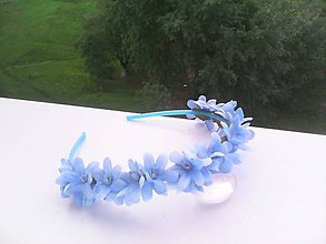 Ozdoby do vlasov - Kvetinová čelenka do vlasov