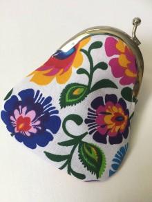 Peňaženky - folk farebná-mini-peňaženka - 9599691_