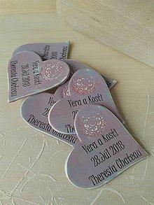 Darčeky pre svadobčanov - dúhovo maľované svadobné magnetky - 9599500_