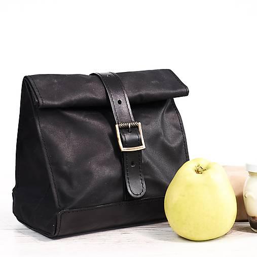 Lunchbag. Čierna taška na jedlo