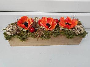 Dekorácie - Rozkvitnutý drevený hranol - 9599361_