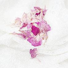 Suroviny - Sušené lupienky Pivonka ružová - 9597680_