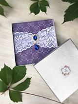 Bielizeň/Plavky - Jednoduchý svadobný podväzok  (Kráľovská modrá brošňa) - 9597561_
