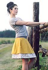 Sukne - la femme /žlutá - 9599184_