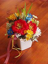- Lúčne kvety s vlčími makmi v keramike - 9597538_