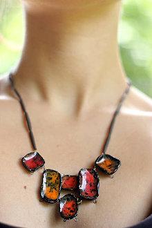 Náhrdelníky - náhrdelník vulkán - 9602137_