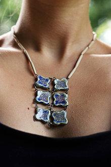 Náhrdelníky - náhrdelník belasý - 9602245_