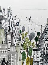 Obrazy - Niekde v New Yorku ilustrácia / originál maľba - 9602140_