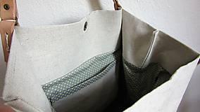 Veľké tašky - Veľká ľanová taška prírodnej farby - 9600608_