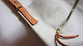 Veľké tašky - Veľká ľanová taška prírodnej farby - 9600609_