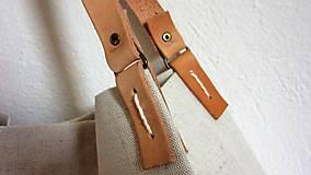 Veľké tašky - Veľká ľanová taška prírodnej farby - 9600611_