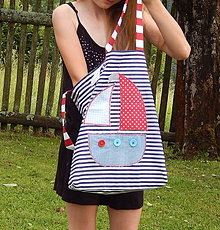 Detské tašky - Detská nákupná taška - Námornícka - 9601141_